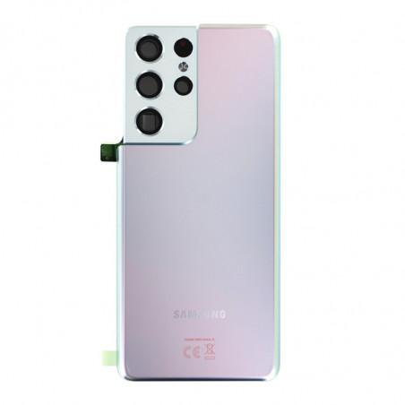 Vitre arriere Samsung Galaxy S21 Ultra 5G argent fantôme