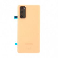 Vitre arriere Samsung Galaxy S20 FE 5G orange nuage GH82-24223F