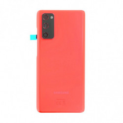 Vitre arriere Samsung Galaxy S20 FE 5G rouge nuage