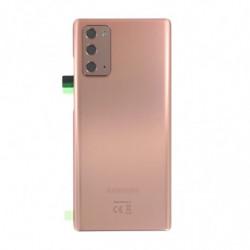Vitre arriere Samsung Galaxy Note 20 bronze