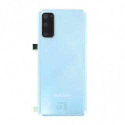 Vitre arriere Samsung Galaxy S20 5G bleu