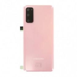 Vitre arriere Samsung Galaxy S20 5G Rose