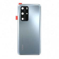 Vitre arriere Huawei P40 Pro givre argent