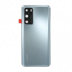 Huawei vitre arriere P40 argent givré