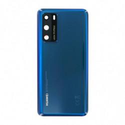 Huawei vitre arriere P40 bleu