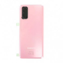 Vitre arriere Samsung Galaxy S20 4G Rose Nuage
