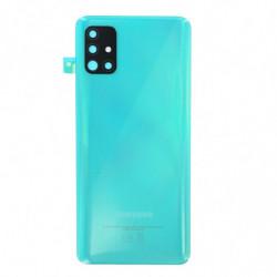 Vitre arriere Samsung Galaxy A51 Prism Crush Bleu