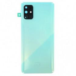 Vitre arriere Samsung Galaxy A71 prism crush bleu