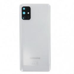 Vitre arriere Samsung Galaxy A71 prism crush argent