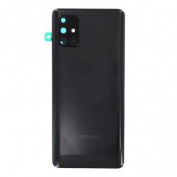 Vitre arriere Samsung Galaxy A71 prism crush noir