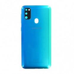 Vitre arriere Samsung Galaxy M30s bleu
