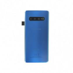 Samsung vitre arriere Galaxy S10 Duos bleu