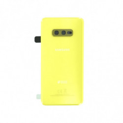 Samsung vitre arriere Galaxy S10e Duos jaune