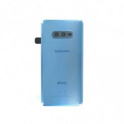 Samsung vitre arriere Galaxy S10e Duos bleu