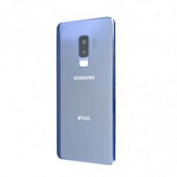 Vitre arriere Samsung Galaxy S9 Duos bleu