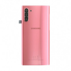 Vitre arriere Samsung Galaxy Note 10 rose