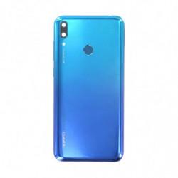Vitre arriere Huawei Y7 2019 bleu aurore