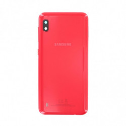 Vitre arriere Samsung Galaxy A10 rouge