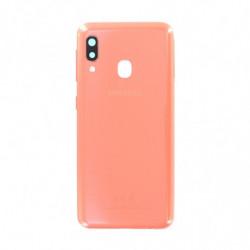 Vitre arriere Samsung Galaxy A20e orange