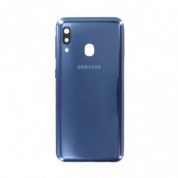 Vitre arriere Samsung Galaxy A20e bleu