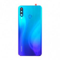 Vitre arriere Huawei P30 Lite bleu paon
