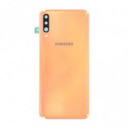 Vitre arriere Samsung Galaxy A70 corail