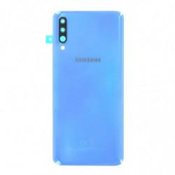 Vitre arriere Samsung Galaxy A70 bleu
