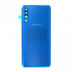 Vitre arriere Samsung Galaxy A50 bleu