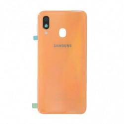 Vitre arriere Samsung Galaxy A40 corail