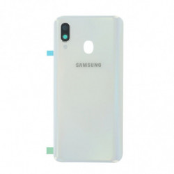 Vitre arriere Samsung Galaxy A40 blanche