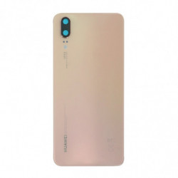 Vitre arriere Huawei P20 rose