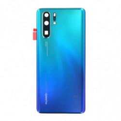 Vitre arriere Huawei P30 Pro Aurora bleu