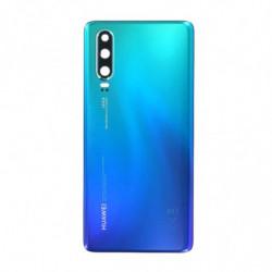 Vitre arriere Huawei P30 bleu aurore