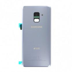 Vitre arriere Samsung Galaxy A8 (2018) DUOS gris orchidée