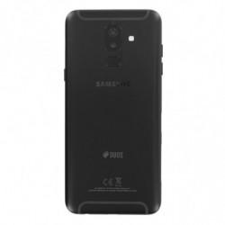 Vitre arriere Samsung Galaxy A6 Plus (2018) Duos noir