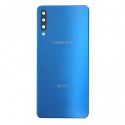 Vitre arriere Samsung Galaxy A7 (2018) Duos Bleu