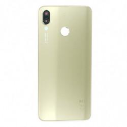 Vitre arriere pour Huawei P20 Lite avec empreinte digitale or