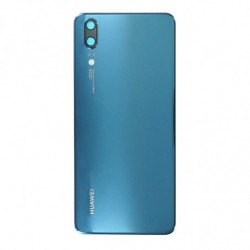 Vitre arriere Huawei P20 bleu