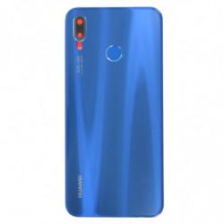 Vitre arriere Huawei P20 Lite bleu