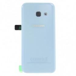Vitre arriere Samsung Galaxy A3 (2017) bleu