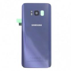 Vitre arriere Samsung Galaxy S8 gris orchidée