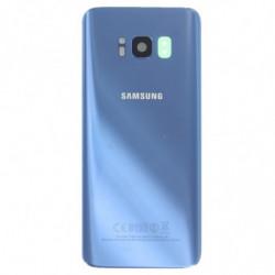 Vitre arriere Samsung Galaxy S8 bleu