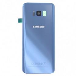 Vitre arriere Samsung Galaxy S8 Plus bleu