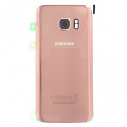 Vitre arriere Samsung Galaxy S7 or rose