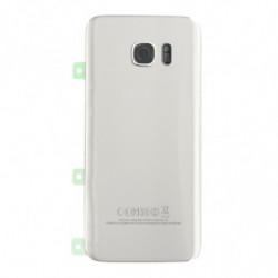 Vitre arriere pour Samsung Galaxy S7 Edge Argent