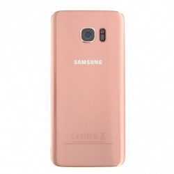 Vitre arriere Samsung Galaxy S7 Edge or rose