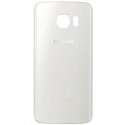 Vitre arriere Samsung Galaxy S6 Edge Blanc