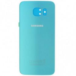 Vitre arriere Samsung Galaxy S6 Bleu Topaze