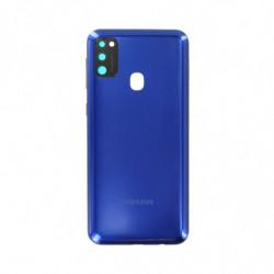 Vitre arriere Samsung Galaxy M21 bleu