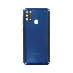 Vitre arriere Samsung Galaxy M31 bleu